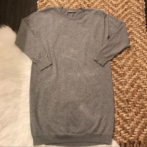 Vince Long Sleeve Grey Sweater Dress Size Mediun